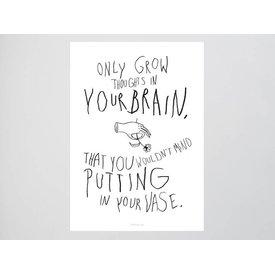 "typealive Postkarte ""Brainflowers"""