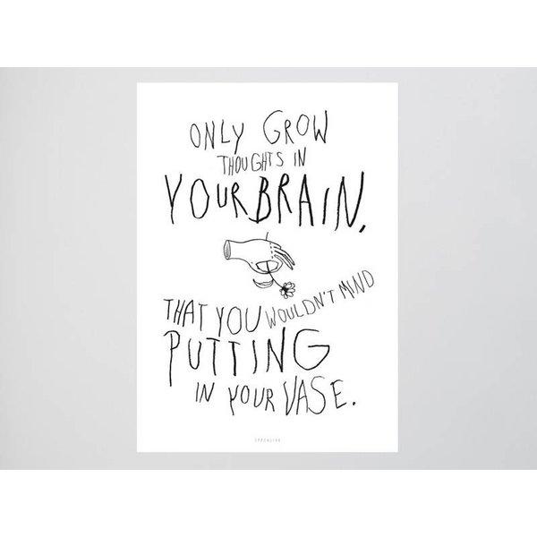 """typealive Postkarte """"Brainflowers"""" von typealive"""