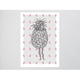 "typealive Postkarte ""Ananas No. 1"""