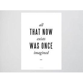 """typealive Postkarte """"Imagined"""""""
