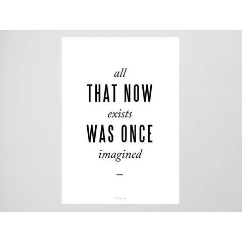 "Postkarte ""Imagined"" von typealive"