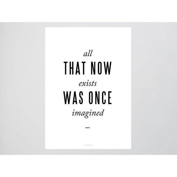 "typealive Postkarte ""Imagined"" von typealive"