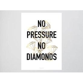 """typealive Postkarte """"No Pressure"""" von typealive"""