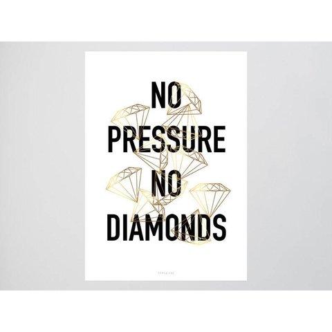 """Postkarte """"No Pressure"""" von typealive"""