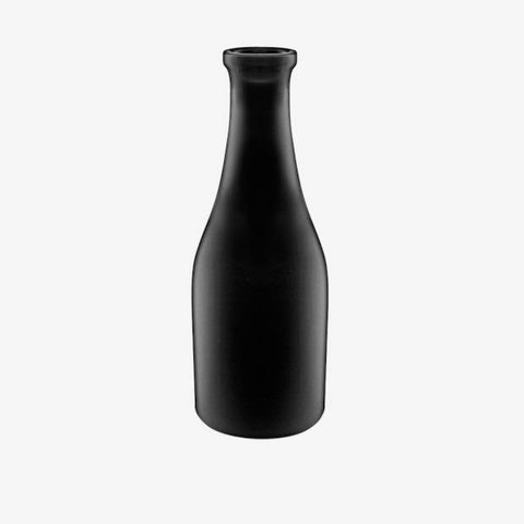 Vase in Flaschenform Schwarz