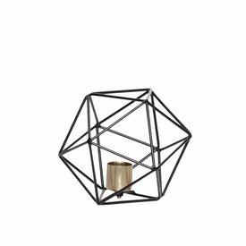 Hübsch Interior Metall-Kerzenständer Geometrie