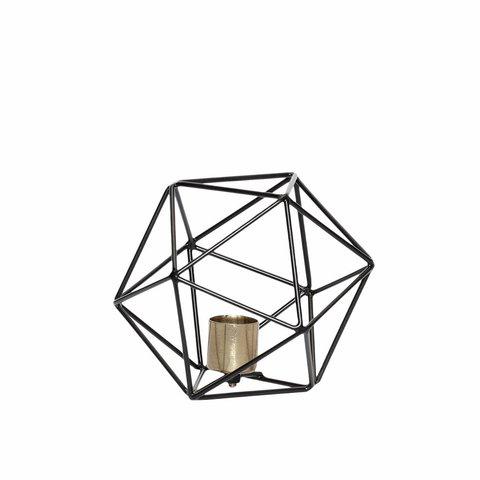 Metall-Kerzenständer Geometrie von Hübsch Inteior