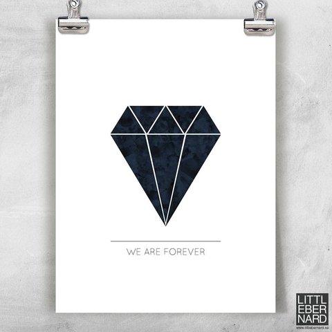 """Poster """"Forever"""" von Little Bernard"""