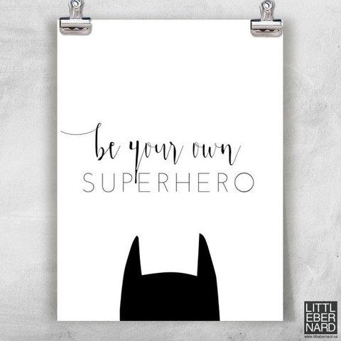 "Poster ""Superhero"" von Little Bernard"