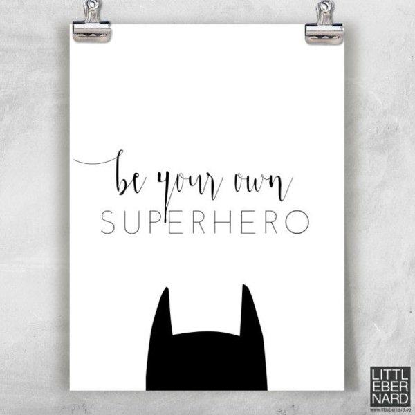 """Little Bernard Poster """"Superhero"""" von Little Bernard"""