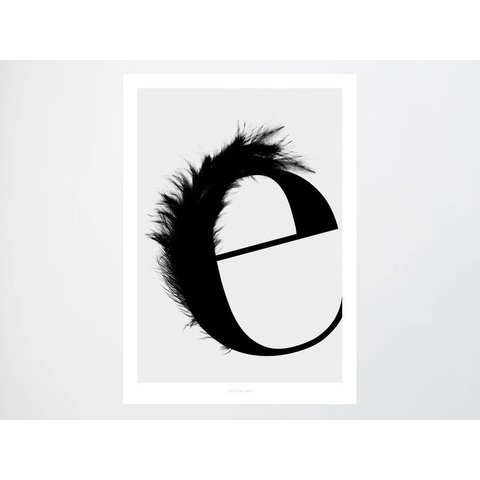 """Poster """"ABC Flying Letters - E"""" von typealive"""