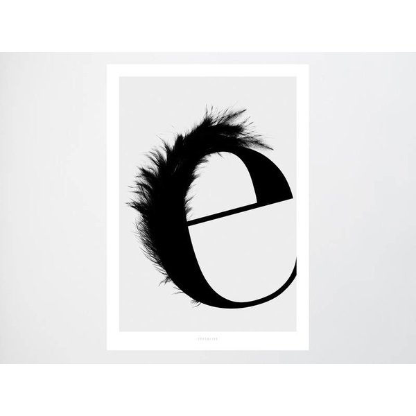 """typealive Poster """"ABC Flying Letters - E"""" von typealive"""