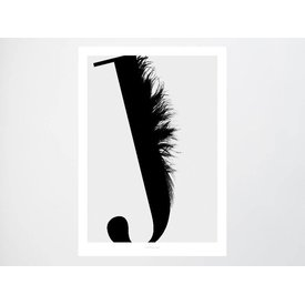 """typealive Poster """"ABC Flying Letters - J"""""""