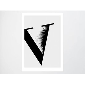 """typealive Poster """"ABC Flying Letters - V"""""""