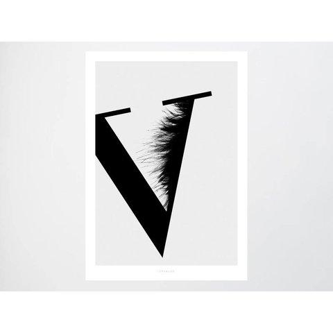 "Poster ""ABC Flying Letters - V"""