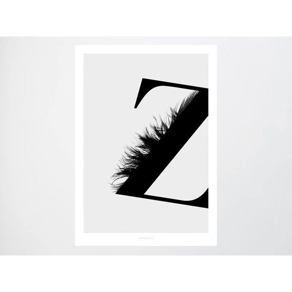"typealive Poster ""ABC Flying Letters - Z"" von typealive"