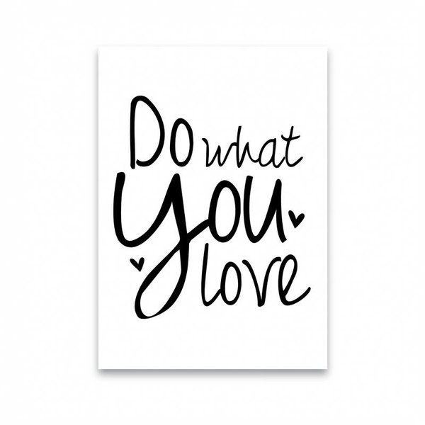 "Dots Lifestyle Postkarte ""DO WHAT YOU LOVE "" von Dots Lifestyle"