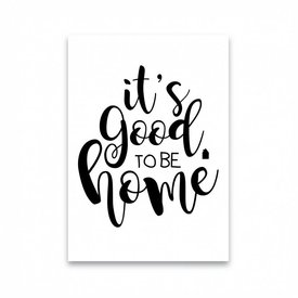 """Dots Lifestyle Postkarte """"IT'S GOOD TO BE HOME """""""