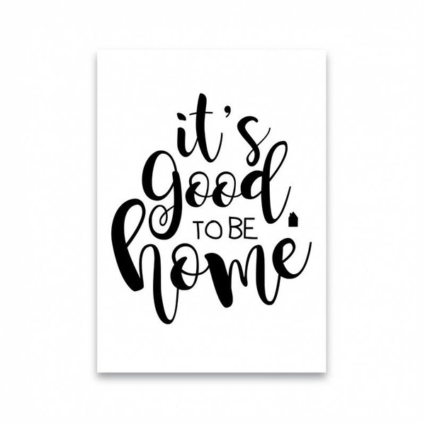 """Dots Lifestyle Postkarte """"IT'S GOOD TO BE HOME """" von Dots Lifestyle"""
