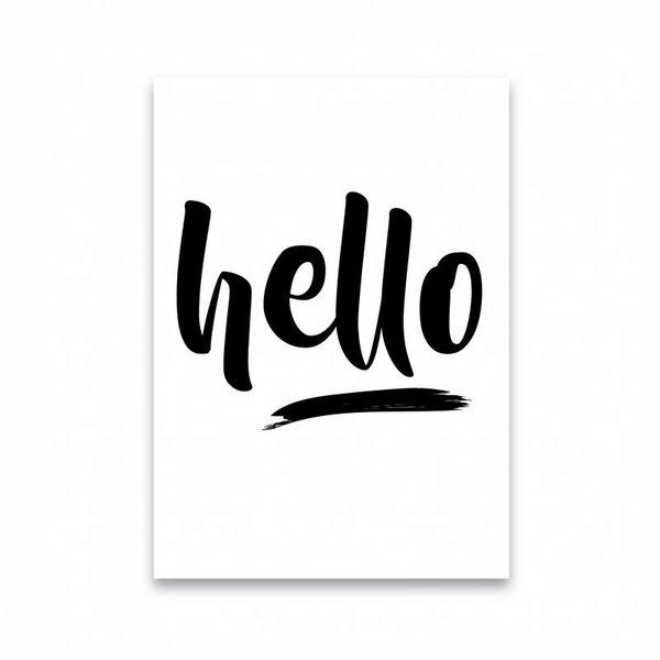 """Dots Lifestyle Postkarte """"HELLO"""" von Dots Lifestyle"""