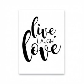 "Dots Lifestyle Postkarte ""LIVE LAUGH LOVE"""