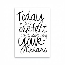 "Dots Lifestyle Postkarte ""TODAY IS A PERFECT DAY"""