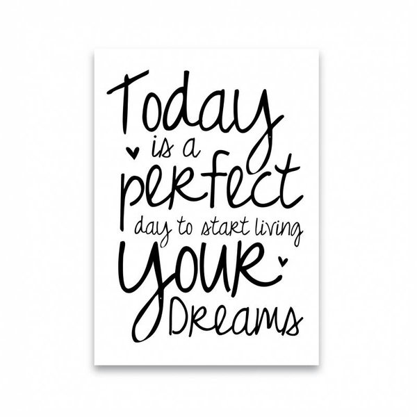 """Dots Lifestyle Postkarte """"TODAY IS A PERFECT DAY"""" von Dots Lifestyle"""
