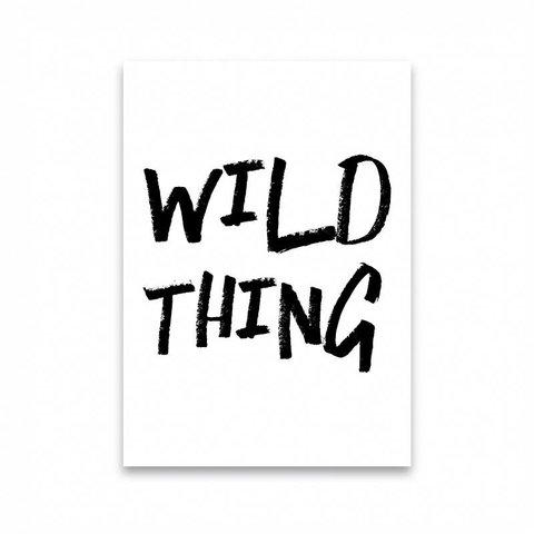 "Postkarte ""WILD THING"""