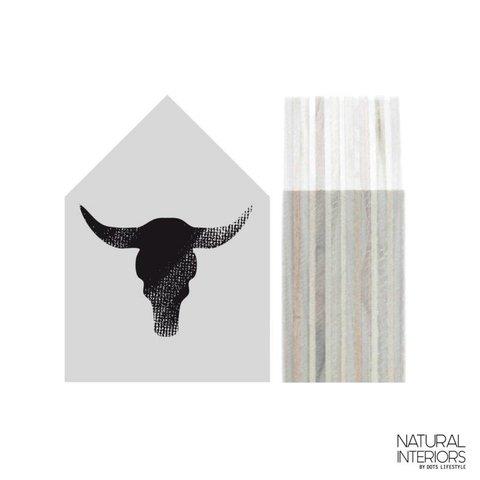 """Deko-Haus """"Bull"""" von Dots Lifestyle"""