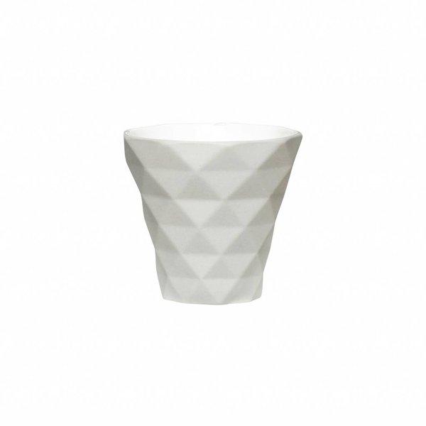 Hübsch Interior Teelichtglas Grau von Hübsch Interior