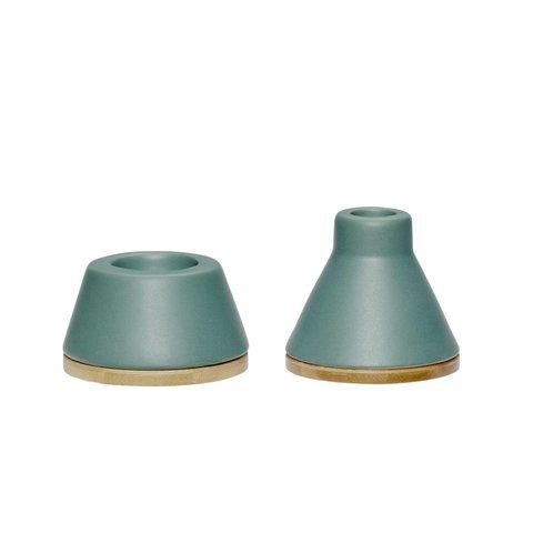 Kerzenhalter-Set Grün