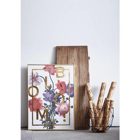 """Poster """"Bloom, Gold"""" von I LOVE MY TYPE"""