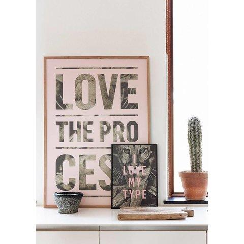 "Poster ""Process, Light Pink"" von I LOVE MY TYPE"