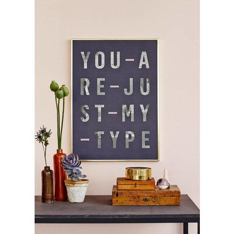 "Poster ""Type,"" von I LOVE MY TYPE"