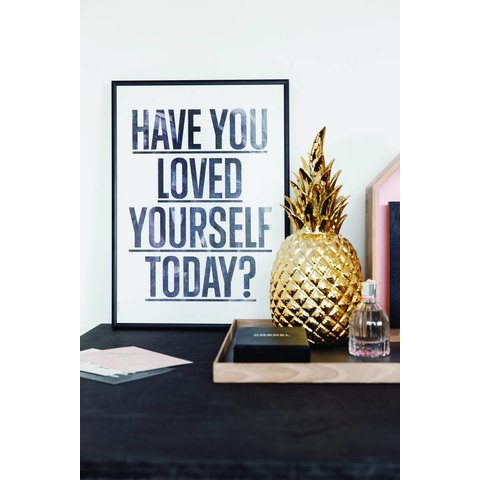 "Poster ""Loved Yourself, White"" von I LOVE MY TYPE"