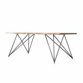"NUTSANDWOODS Design-Esstisch ""Oak Steel Table Slim"" von NUTSANDWOODS"