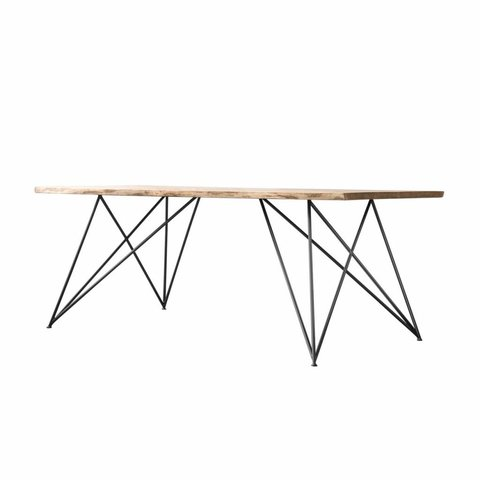 """Design-Esstisch """"Oak Steel Table Slim"""" von NUTSANDWOODS"""