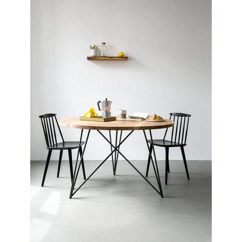 """Design-Esstisch """"Oak Steel Table Round"""" von NUTSANDWOODS"""