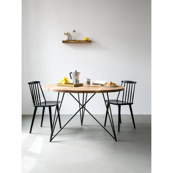 """NUTSANDWOODS Design-Esstisch """"Oak Steel Table Round"""" von NUTSANDWOODS"""