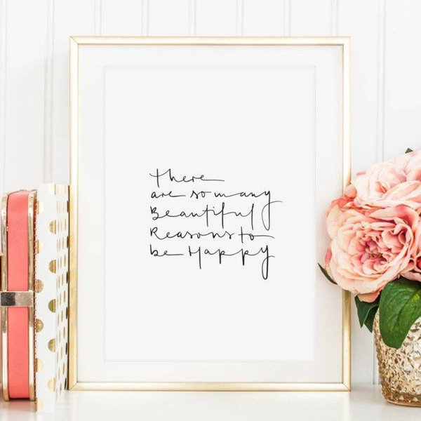 """Tales by Jen Poster """"Beautiful reasons to be happy"""" von Tales by Jen"""
