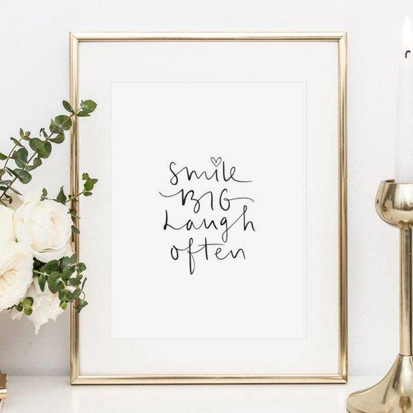 "Tales by Jen Poster ""Smile big, laugh often"" von Tales by Jen"