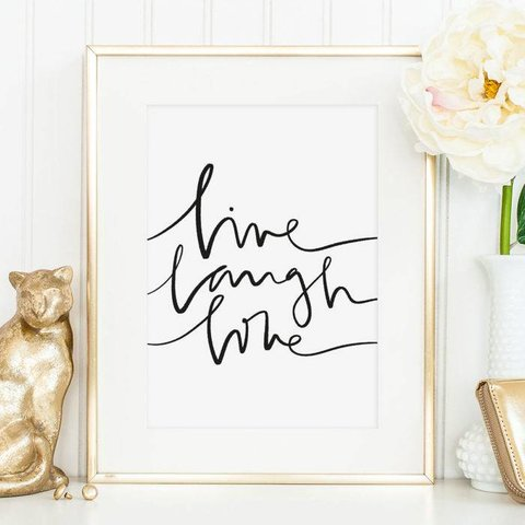 "Poster ""Live Laugh Love"" von Tales by Jen"