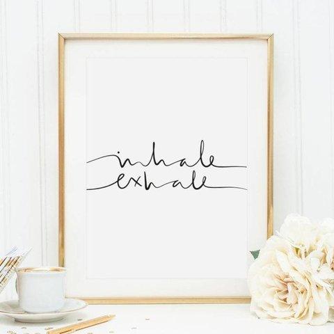 "Poster ""Inhale Exhale"" von Tales by Jen"