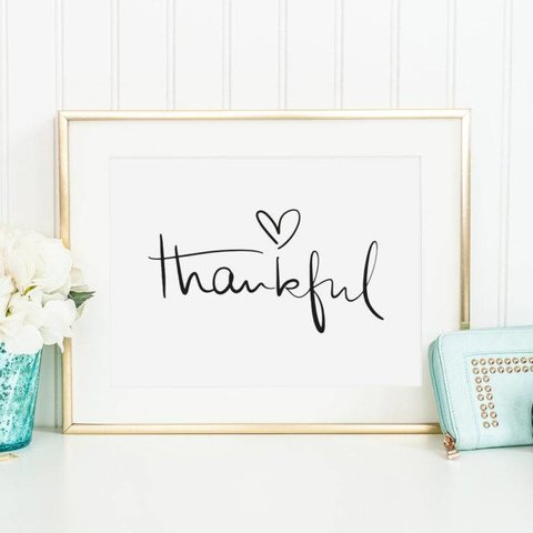 "Poster ""Thankful"" von Tales by Jen"