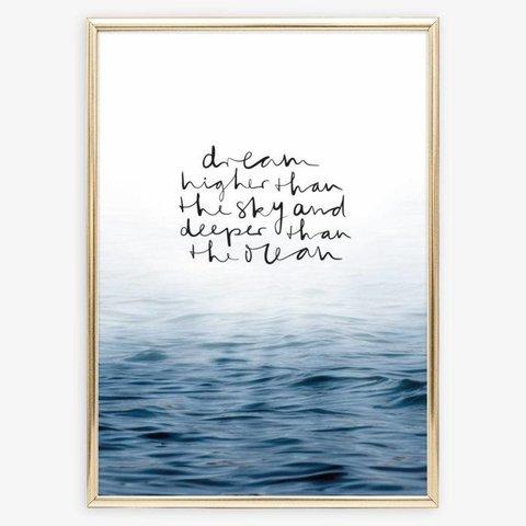 """Poster """"Ocean"""" von Tales by Jen"""