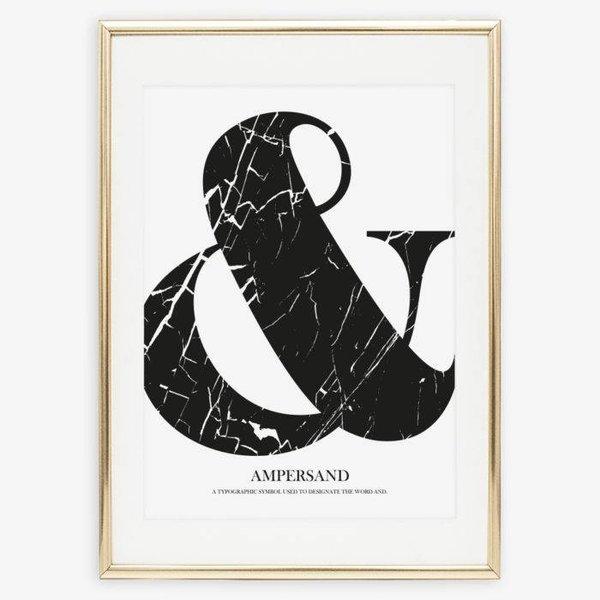 """Tales by Jen Poster """"Marble Ampersand"""" von Tales by Jen"""