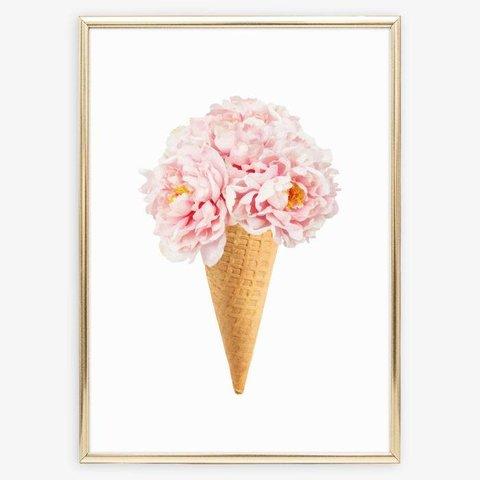 """Poster """"Bouquet auf Eiswaffel"""" von Tales by Jen"""