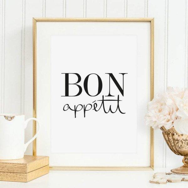 """Tales by Jen Poster """"Bon appetit"""" von Tales by Jen"""