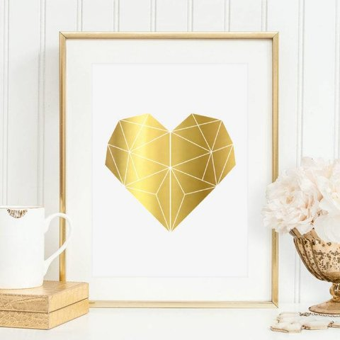 """Poster """"Herz in Goldfolie"""" von Tales by Jen"""