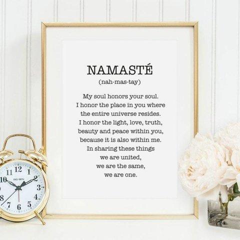 "Poster ""Namasté"" von Tales by Jen"